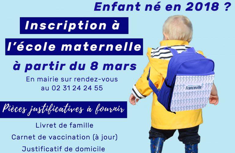 Inscription Ecole maternelle